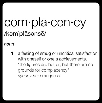 lbd-complacency